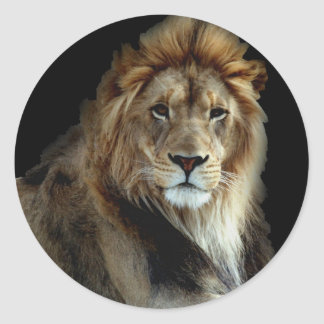 Proud King of the Animal Kingdom Classic Round Sticker
