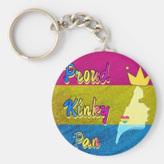 Proud Kinky Pan Collection Basic Round Button Keychain