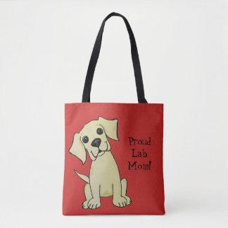 Proud Lab Mom Cute Tote Bag