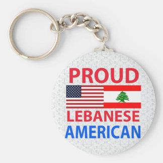 Proud Lebanese American Basic Round Button Keychain