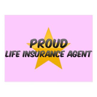 Proud Life Insurance Agent Postcard