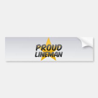 Proud Lineman Bumper Sticker