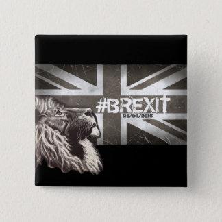 Proud Lion #Brexit Commemorative Art 2 Inch Square Button
