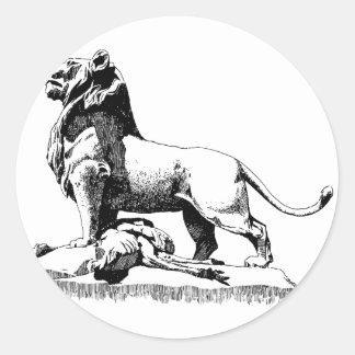 Proud Lion Classic Round Sticker