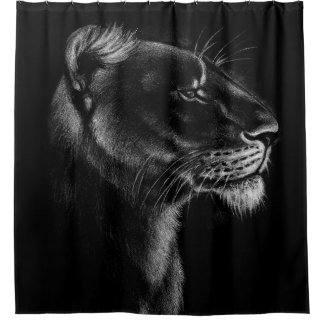 Proud Lioness on Black