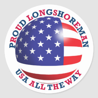 Proud Longshoreman Round Sticker