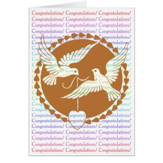 Proud Love Doves Gay Wedding Congratulations Card