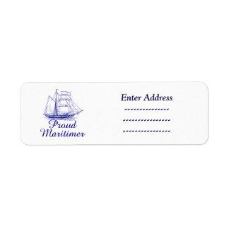 Proud Maritimer Nova Scotia address label Sticker