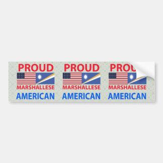 Proud Marshallese American Bumper Sticker