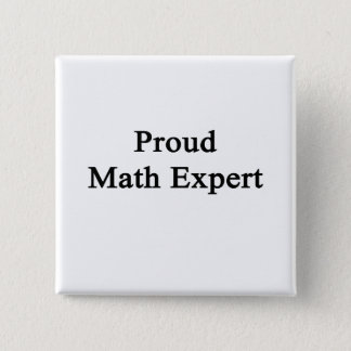 Proud Math Expert 2 Inch Square Button