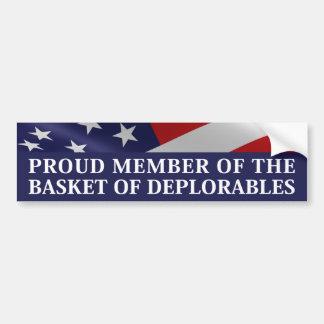Proud Member Of The Basket of Deplorables Bumper Sticker