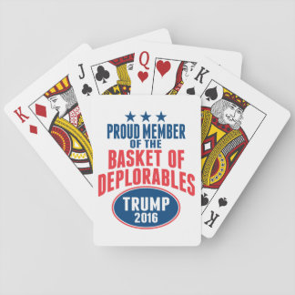 Proud Member of the Basket of Deplorables - Trump Playing Cards