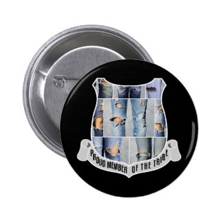 Proud Member Of The Tribe Customizable Black 2 Inch Round Button