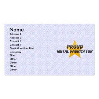 Proud Metal Fabricator Business Card Templates