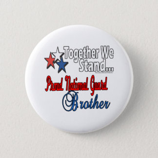 Proud Military Brother 2 Inch Round Button