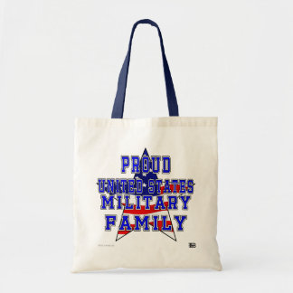 Proud Military Family Budget Tote - Blue
