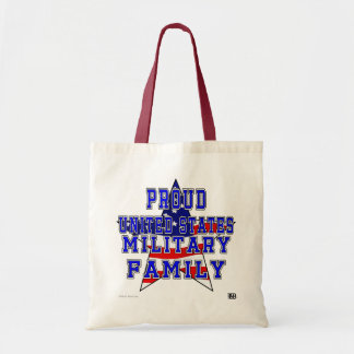 Proud Military Family Budget Tote - Red