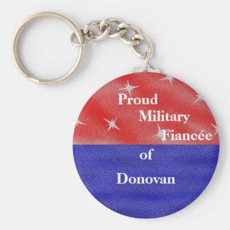 Proud military fiancée (fiancé) of ____________ keychain