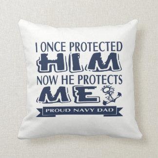 Proud Military Parent Navy Dad Throw Pillow