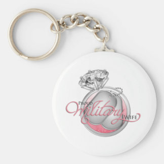 Proud Military Wife Keychain