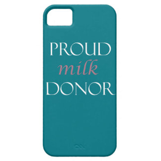 Proud milk donor pink and white writing case for the iPhone 5