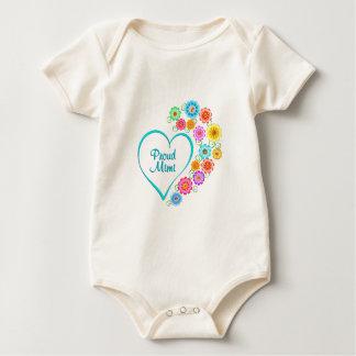 Proud Mimi Heart Baby Bodysuit