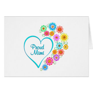 Proud Mimi Heart Card