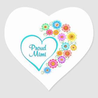 Proud Mimi Heart Heart Sticker