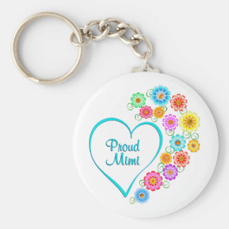 Proud Mimi Heart Keychain