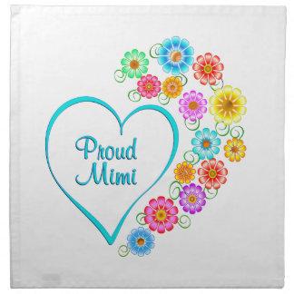 Proud Mimi Heart Napkin