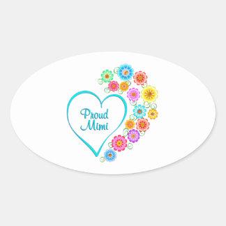 Proud Mimi Heart Oval Sticker