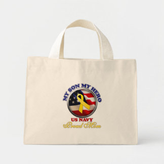 Proud Mom - Navy Mini Tote Bag