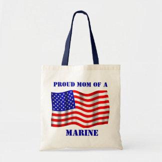 Proud Mom Of A Marine U.S. Flag Tote Bag