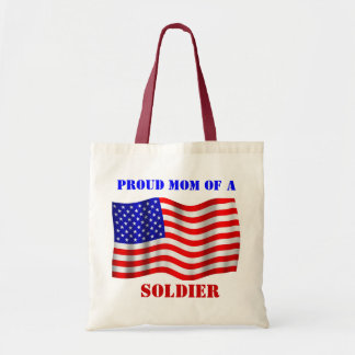 Proud Mom Of A Soldier U.S. Flag Tote Bag