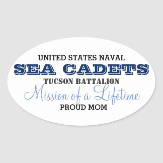 Proud Mom Oval Sticker