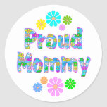 Proud Mommy Classic Round Sticker