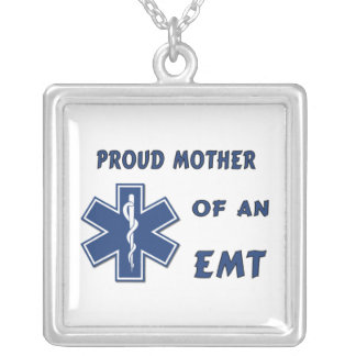 Proud Mother Of An EMT Silver Plated Necklace