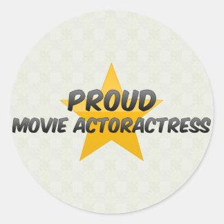 Proud Movie Actoractress Round Stickers