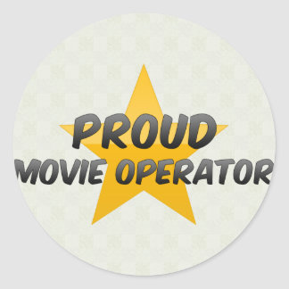 Proud Movie Operator Round Sticker