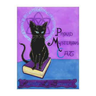 Proud Mysterious Cat Canvas Print
