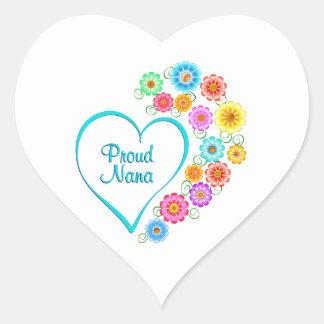 Proud Nana Heart Heart Sticker