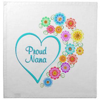 Proud Nana Heart Napkin
