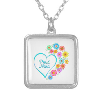 Proud Nana Heart Silver Plated Necklace