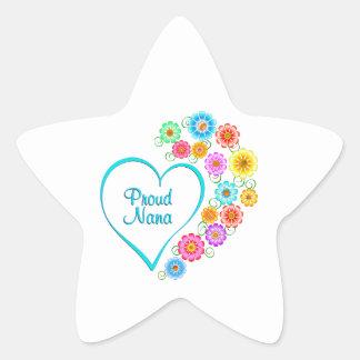 Proud Nana Heart Star Sticker