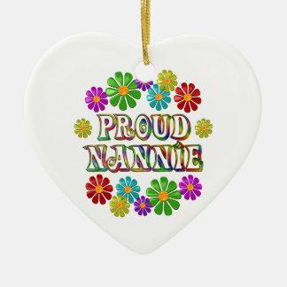 Proud Nannie Ceramic Heart Ornament