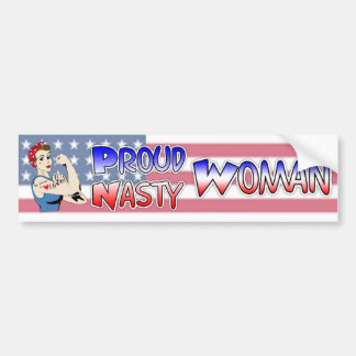 Proud Nasty Woman Democrat Bumper Sticker
