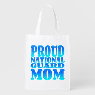Proud National Guard Mom Reusable Grocery Bag