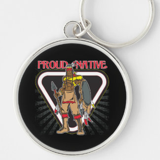 Proud Native American Keychain