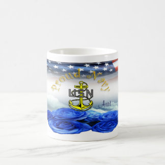 Proud Navy Aunt Coffee Mug