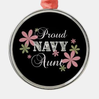 Proud Navy Aunt [fl c] Metal Ornament